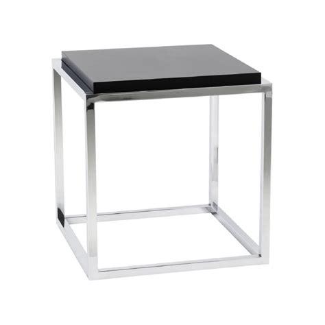 table bout de canap 233 design metacub noir 42x42x44 pier import