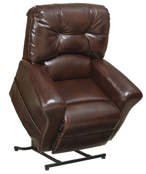 Catnapper Power Lift Chair Remote by Landon Quot Pow R Lift Quot Lay Flat Recliner In Bourbon Leather