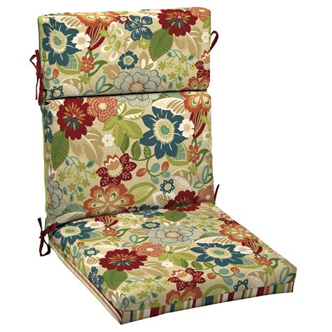 shop garden treasures bloomery patio chair cushion at