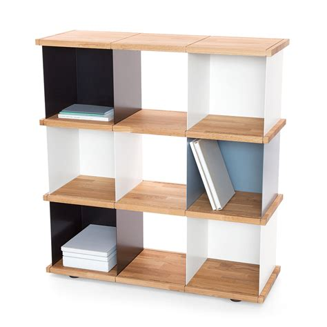 meuble rangement modulable etag re basse design m tal et bois yu etagere with rangement