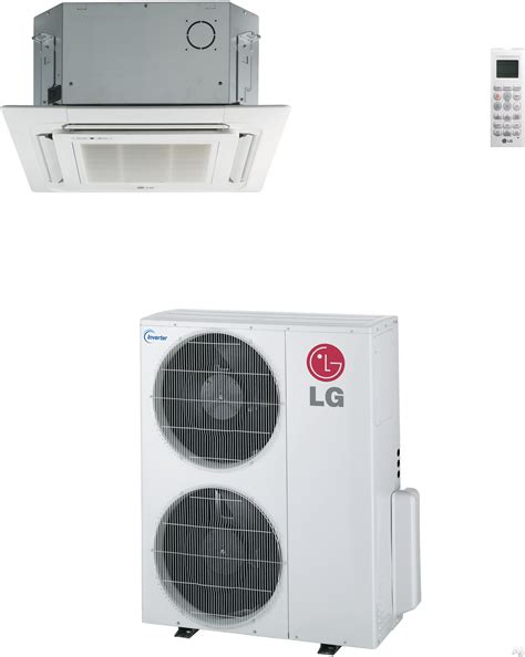 lg lc427hv 41 000 btu single zone ceiling cassette cool heat ductless split system with