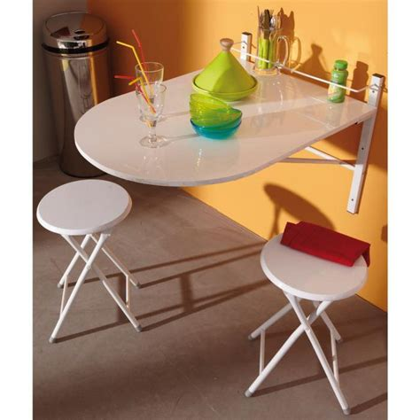 table murale sinai pliable avec 2 tabourets achat vente table de cuisine table de cuisine
