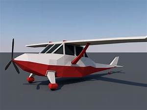 Low Poly Plane 3D Model Game ready .obj .fbx .c4d ...