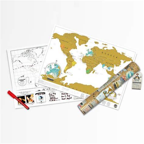 carte du monde 224 gratter format de voyage ideecadeau fr