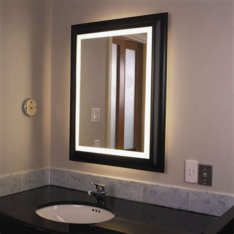 Lighted Bathroom Mirrors Wall by Wall Lights Design Lighted Bathroom Wall Mirror Large