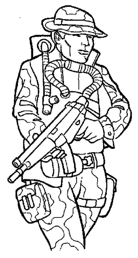 Opblaasboot Top 1 Toys by Coloring Page Soldier 2051895