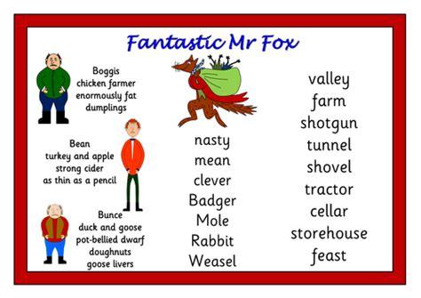 Fantastic Mr Fox Teaching Pack Worksheets, Activities, Display Materials, Quiz By Robbyn