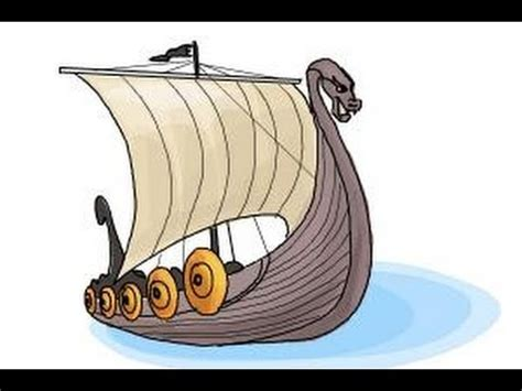 How To Draw A Dragon Boat by How To Draw A Viking Ship Youtube