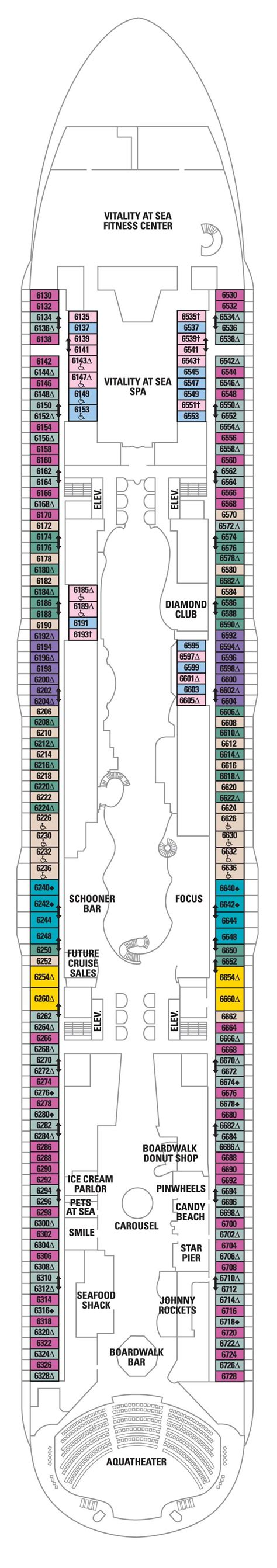 Deck 6  Allure Of The Seas Deck Plans  Royal Caribbean Blog