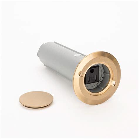 carlon e971fbdib 2 1 drop in floor box w brass
