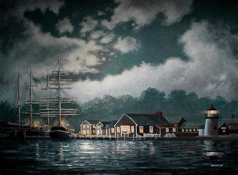 Mystic Seaport Painting By Richard Ramsey