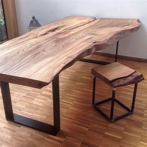 Holztisch Massiv Esszimmer : massivholztisch baumtisch massivholzplatte esstisch holztisch aus ulmenholz ~ Markanthonyermac.com Haus und Dekorationen
