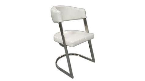 chaise de salle 224 manger blanche aron en cuir simili incurv 233 gdegdesign