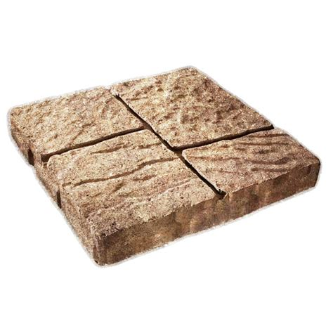 shop cassay sand four cobble patio common 16 in x 16 in actual 15 7 in h x 15 7 in