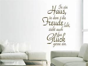 Zuhause Im Glück Jugendzimmer : spr che rund ums zuhause als wandtattoo sch ner wandtattoo spruch f rs zuhause ~ Markanthonyermac.com Haus und Dekorationen