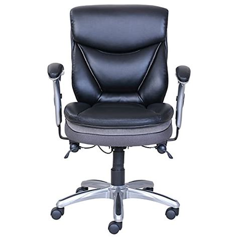 best price serta smart layers verona manager chair black silver