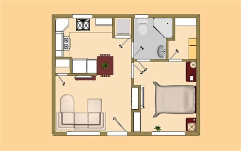 Home Design 400 Square Feet : Small House Plans Under 400 Sq Ft