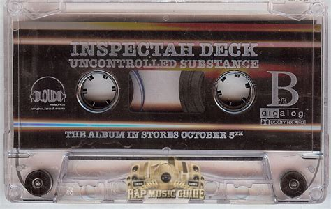 inspectah deck uncontrolled substance cassette rap