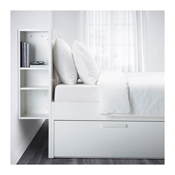 ikea king size storage headboard brimnes bed frame w storage and headboard white lur 246 y