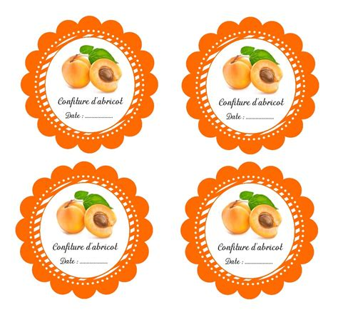 etiquettes imprimables pour pot de confiture d abricot fait maison reposter 237 a