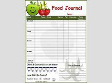 Diet Food Journal Template – Diet Plan