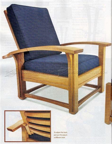 morris chair plans woodarchivist