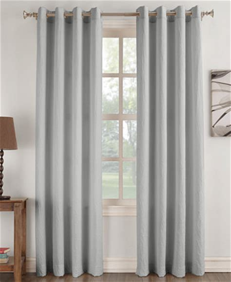 Lichtenberg Curtains No 918 Henna by No 918 Janice Solid Crushed Microfiber Pair Of Grommet