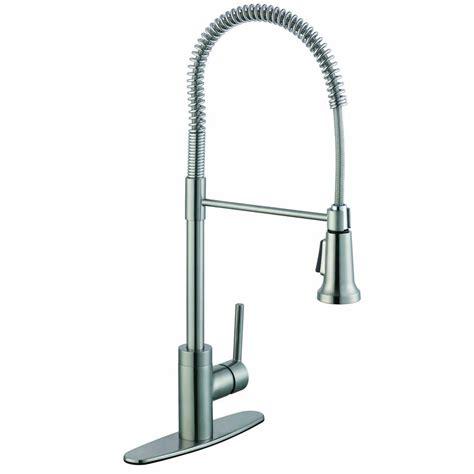 glacier bay 1 200 series pull sprayer kitchen faucet