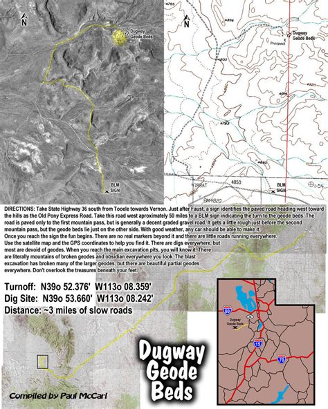 rockpick legend co your complete rock experience tm dugway geode beds maps and directions