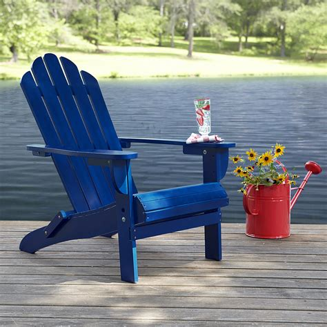 Navy Blue Resin Adirondack Chairs by Garden Oasis Adirondack Chair Blue