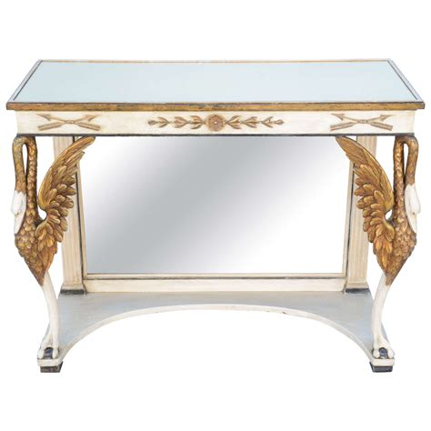 Pier One Mirrored Sofa Table by Painted And Parcel Gilt Pier Table With Mirrored Top For