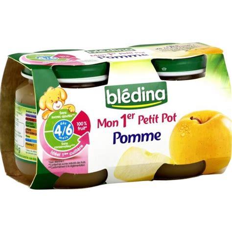 bl 233 dina mon 1er petit pot pomme 2x130g achat vente compote dessert fruit 233 bl 233 dina mon 1er