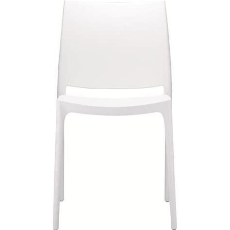 chaise blanche achat vente chaise salle a manger pas cher couleur et design fr