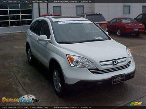 2007 Honda Cr-v Ex-l 4wd Taffeta White / Gray Photo #4