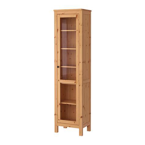hemnes glass door cabinet light brown ikea