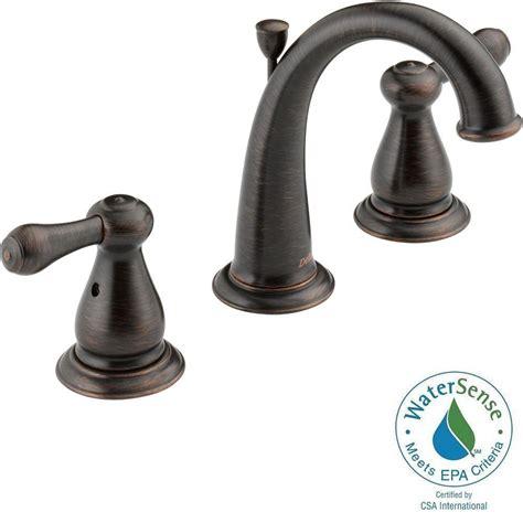 Delta Venetian Bronze Bathroom Faucet by Delta Leland 8 In Widespread 2 Handle High Arc Bathroom