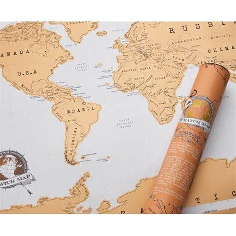 carte du monde 224 gratter cadeau maestro