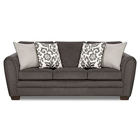 Simmons Sofas At Big Lots by Simmons 174 Flannel Charcoal Sofa With Pillows At Big Lots