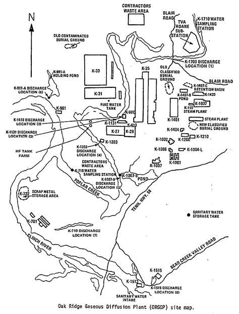 Oak Ridge K25 (ettp)  Ornlk25sitemap  Nuclear Pictures