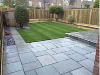 fine patio block design ideas grey sandstone paving with dark grey pointing | outdoor ...