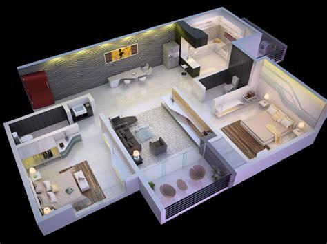 Plan 3d :  More Bedroom D Floor Plans 3d House Plan