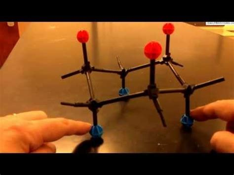 cyclohexane ring flip with molecular models