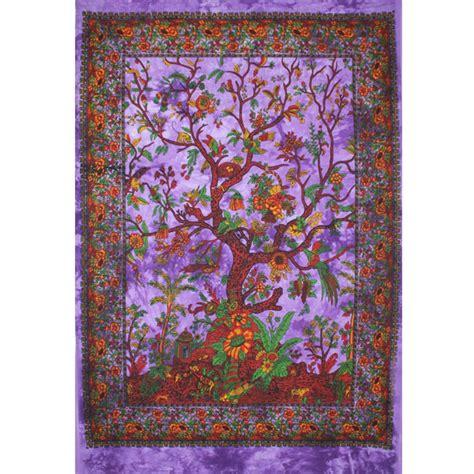 tenture indienne quot arbre de vie quot tentures murales artisanales sur artiglobe