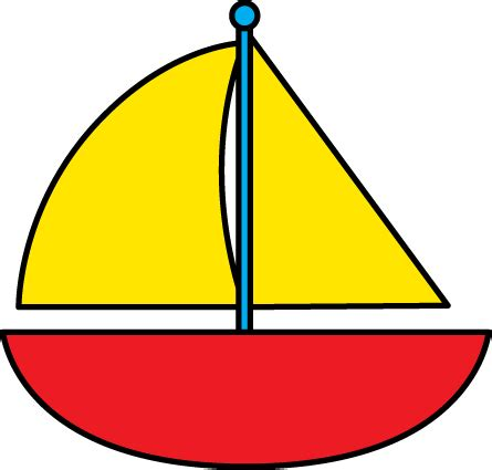 Red Boat Clipart by Sail Boat Clipart Clipart Suggest