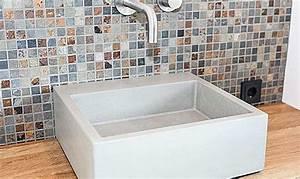 Waschbecken Aus Beton Selber Bauen : waschbecken aus beton alea form in funktion ~ Markanthonyermac.com Haus und Dekorationen