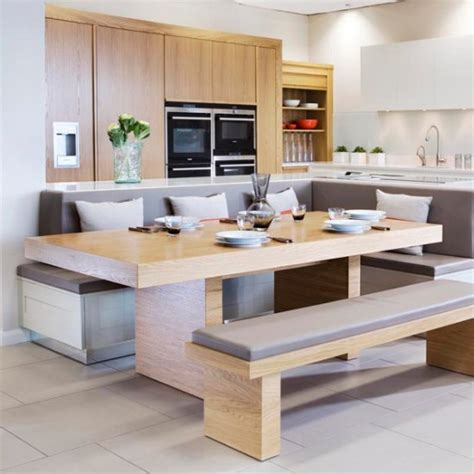 integrate booth seating kitchen islands that really work in open plan spaces housetohome co uk