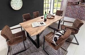 Esstisch Helles Holz : esstisch esszimmertisch tischplatte akazie massiv mit baumkante wie gewachsen lackiert und ~ Markanthonyermac.com Haus und Dekorationen