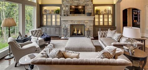 Elegant Great Room On A Budget-tufted Sofas & Greige
