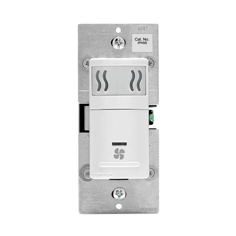 leviton 5 humidity sensor fan speed white r02