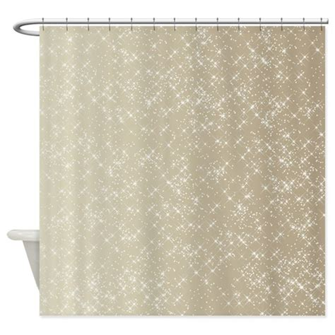 sparkling gold and white shower curtain by be inspired by life